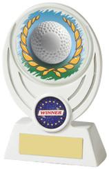 """White Resin Hockey Award - TW18-084-795ZBP - 11cm (4 1/4"""")"""