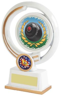 """White Resin Lawn Bowls Award - 16cm (6 1/4"""")"""