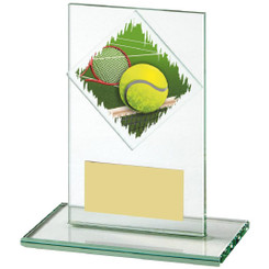 "Jade Glass Upright Tennis Award - 12cm (4 3/4"")"