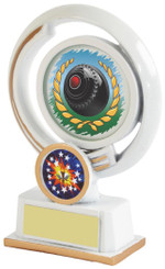 "White Resin Lawn Bowls Award - 13cm (5"")"