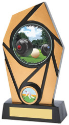 "Gold & Black Resin Lawn Bowls Award - TW18-089-826ZDP - 15cm (6"")"