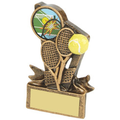 "Gold Resin Tennis Rackets Award - 9cm (3 3/4"")"