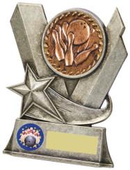 """Metal Ten Pin Bowling Stand Award - TW18-093-829AP - 13cm (5 1/4"""")"""