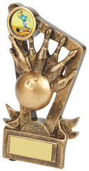 "Gold Resin Ten Pin Bowling Trophy - TW18-093-RS625 - 9cm (3 3/4"")"