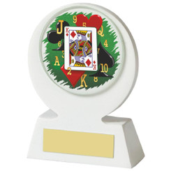 "White Cards Resin Award - 11cm (4 1/4"")"