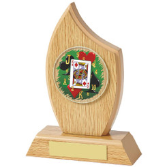 """Light Oak Cards Sail Wood Plaque - 16.5cm (6 1/2"""")"""