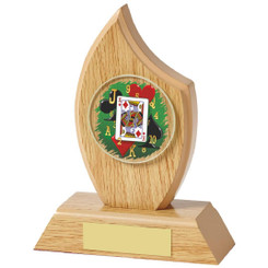 "Light Oak Cards Sail Wood Plaque - 14cm (5 1/2"")"
