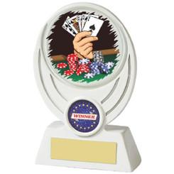 """White Resin Poker Award - 13cm (5"""")"""