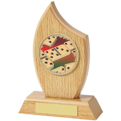 "Light Wood Sail Award for Dominoes - 16.5cm (6 1/2"")"