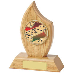 "Light Wood Sail Award for Dominoes - 14cm (5 1/2"")"