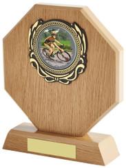 "Light Wood Octagon Multi Sport Award - TW18-097-617ZCP - 14cm (5 1/2"")"