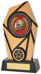 "Gold & Black Resin Award - TW18-097-833ZBP - 17cm (6 1/2"")"