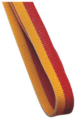 10mm Medal Ribbon - Gold/Red