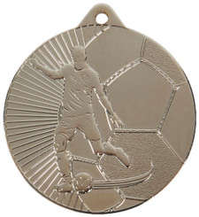 45mm Football Medals - Silver