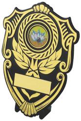 "Black Plastic Shield Award - TW18-112-128C - 10cm (4"")"