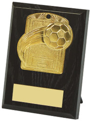 10cm Football Pitch Medal Plaque - TW18-034-533AP