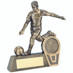 Brz/Gold Mini Male Football Figure Trophy -     (1In Centre) 4.75In