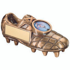 Brz/Gold Football Boot Trophy - (1In Centre)   4.5 X 2In