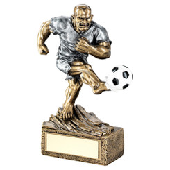BRZ/GOLD FOOTBALL ON STAR RISER TROPHY - (1in CENTRE) 5.5in