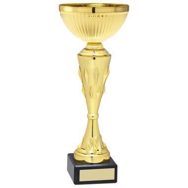 Gold Diamond Stem Trophy - 10.5In
