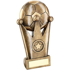 Brz/Gold Football Crown Flatback Trophy -     (1In Centre) 6.5In