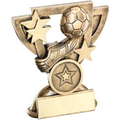 Brz/Gold Football Mini Cup Trophy - (1In Centre) 4.25In