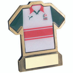 Brz/Gold Resin Rugby Shirt Trophy - (Shirt C) 4.5In