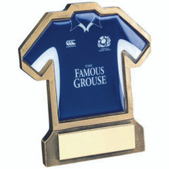 Brz/Gold Resin Rugby Shirt Trophy - (Shirt D) 5In