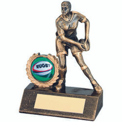 Brz/Gold Resin Mini Female Rugby Trophy - (1In Centre) 5.25In
