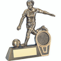 Brz/Gold Mini Female Football Figure Trophy - (1In Centre) 4.75In