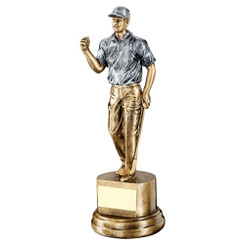 BRZ/GOLD RESIN MALE GOLF TROPHY - 7.5in
