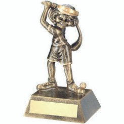 Brz/Gold Female Comic Golf Figure Trophy - 5.5In