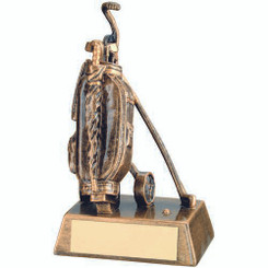 Brz/Gold Resin Golf 'Bag' Trophy - 6.25In