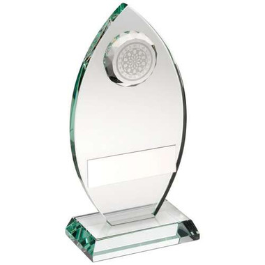 Jade Glass Plaque With Dartboard Trophy -    5.75In