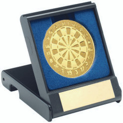 BRZ/GOLD MALE DARTS GEO FIGURE TROPHY - (1in CENTRE) 6.25in