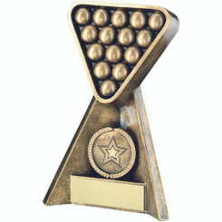 Brz/Gold Pool/Snooker Pyramid Trophy - (1In Centre) 6In