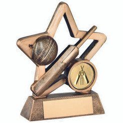 Brz/Gold Resin Cricket Mini Star Trophy - (1In Centre) 4.25In