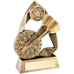 Brz/Gold Darts Diamond Collection Trophy (1In Centre) - 6.5In