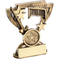 Brz/Gold Hockey Mini Cup Trophy - (1In Centre) 3.75In