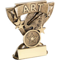 Brz/Gold Art Mini Cup Trophy - (1In Centre) 3.75In