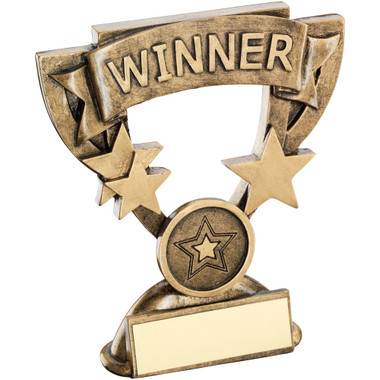 Brz/Gold Winner Mini Cup Trophy - (1In Centre) 4.25In