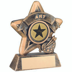 Mini Star 'Art' Trophy - Brz/Gold Art (1In Centre) 3.75In