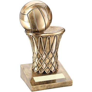 Brz/Gold Netball And Net Trophy - 5In