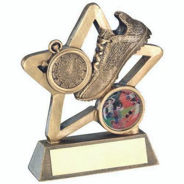 Brz/Gold Athletics Mini Star Trophy - (1In Centre) 3.75In