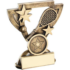 Brz/Gold Squash Mini Cup Trophy - (1In Centre) 3.75In