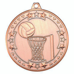 Netball 'Tri Star' Medal - Bronze 2In