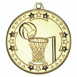 Netball 'Tri Star' Medal - Gold 2In