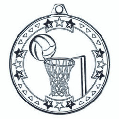 Netball 'Tri Star' Medal - Silver 2In