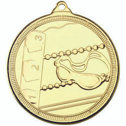 Swimming 'Multi Line' Medal - Gold 2In