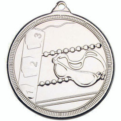 Swimming 'Multi Line' Medal - Silver 2In